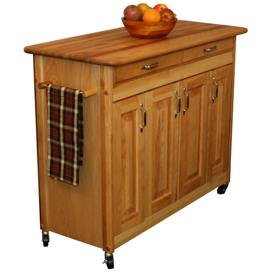 Catskill Butcher Block Island with Raised Panel Doors