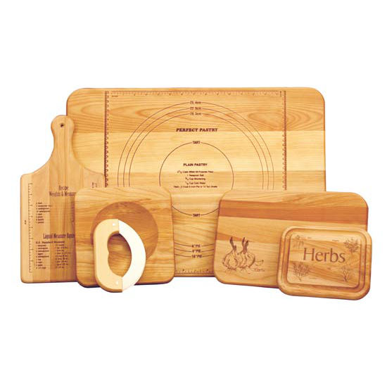 The Ultimate Chef Set of Branded Cutting Boards and Chopping Blocks