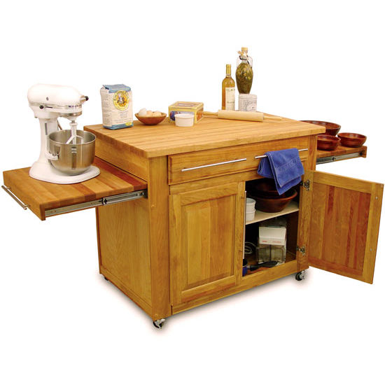 Catskill Kitchen Island with Pull-Out Leaves