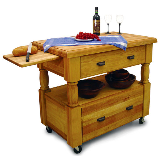 cutting board kitchen island kitchen islands island europa made of northeastern hardwood two slide out cutting boards and 4243