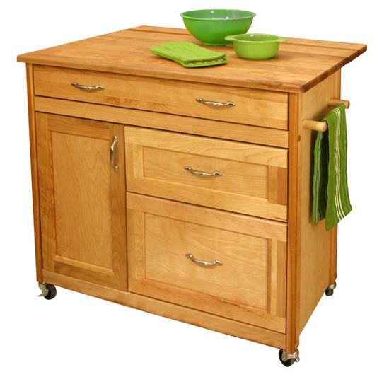 Kitchen Islands   Drawer Island W/Locking Casters In Your Choice Of  26 1/2u0027u0027D Or 38u0027u0027D   By Catskill Craftsmen | KitchenSource.com
