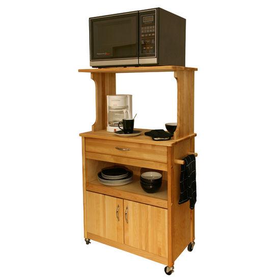 Microwave Cart W/Open Shelving