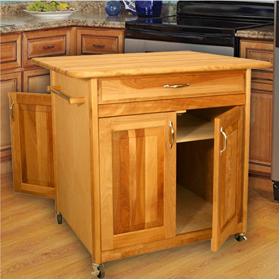 Catskill Big Kitchen Island With Doors On One Side Or Both