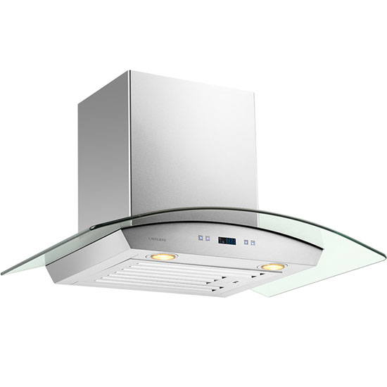 Cavaliere-Euro SV218D 30  Stainless Steel Wall Mount Range Hood with Tempered Glass Canopy 900 CFM  sc 1 st  KitchenSource.com & Wall Mount Range Hoods - Canopies Chimneys Ductless u0026 Wood Hoods ...