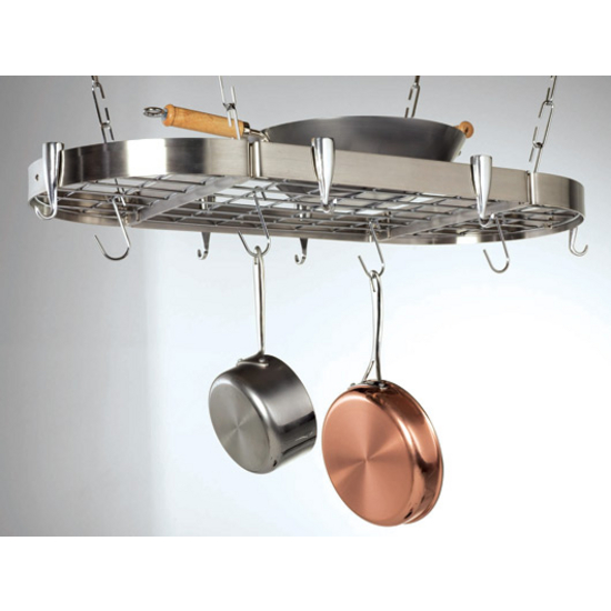 Stainless Steel Oval Ceiling Rack CH-CP-40901
