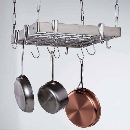 Stainless Steel Square Ceiling Rack