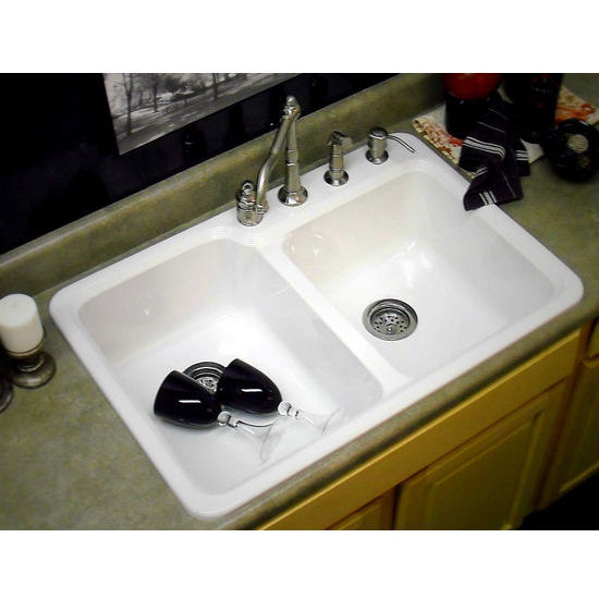 Kitchen Sinks Chepachet Self Rim Double Bowl Kitchen