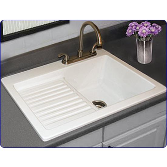 Kitchen Sinks - Edgewood Self-Rim Laundry Sink by CorStone ...