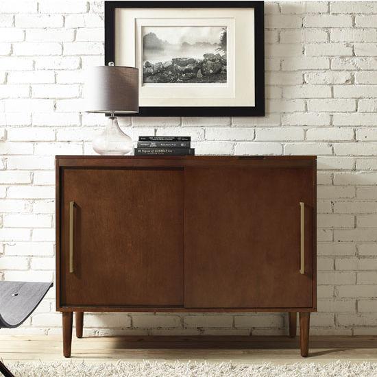 Crosley Furniture Everett Media Console With Record