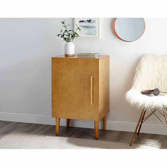 Crosley Furniture Everett Record Player Stand With Enclosed Record