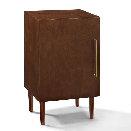 Crosley Furniture Everett Record Player Stand With Enclosed Record Storage In Mahogany Finish