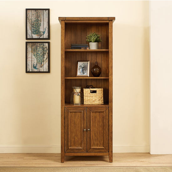 Crosley Furniture Sienna Bookcase, Moroccan Pine Finish