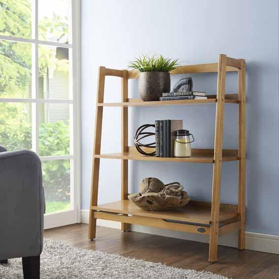 Crosley Furniture Landon Bookcase, Acorn Finish