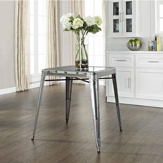 Crosley Furniture Amelia Metal Caf� Table, 26''W x 26''D x 30''H