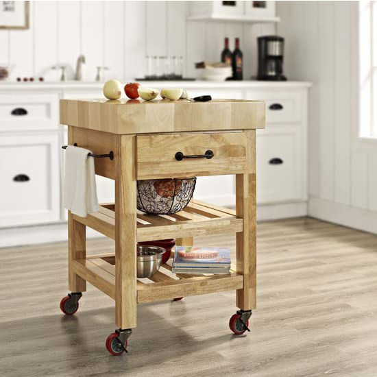 Marston Butcher Block Kitchen Cart
