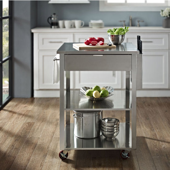 Crosley Furniture Culinary Prep Kitchen Cart Available In
