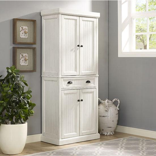 seaside kitchen pantry  measuring 30 u0026quot w x 16 u0026quot d x 72 u0026quot h  by crosley furniture
