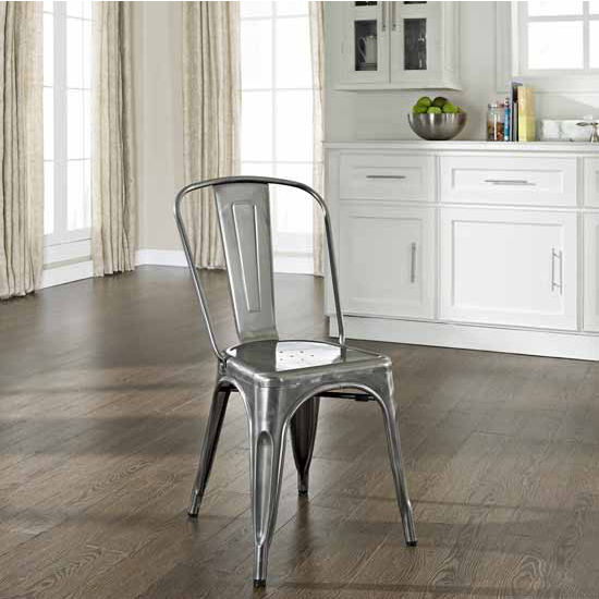 Crosley Furniture Amelia Metal Caf� Chair (Sold in Pairs), 17''W x 20-1/2''D x 33-4/5''H