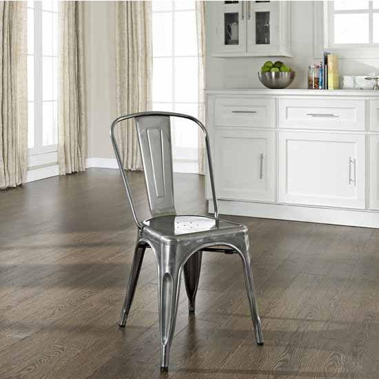 Crosley Furniture Amelia Metal Café Chair (Sold In Pairs), 17u0027u0027W