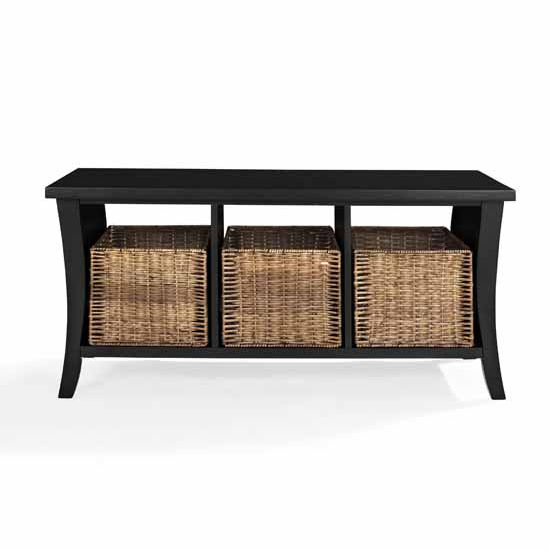 Crosley Furniture Wallis Entryway Storage Bench With 3 Cubby Holes
