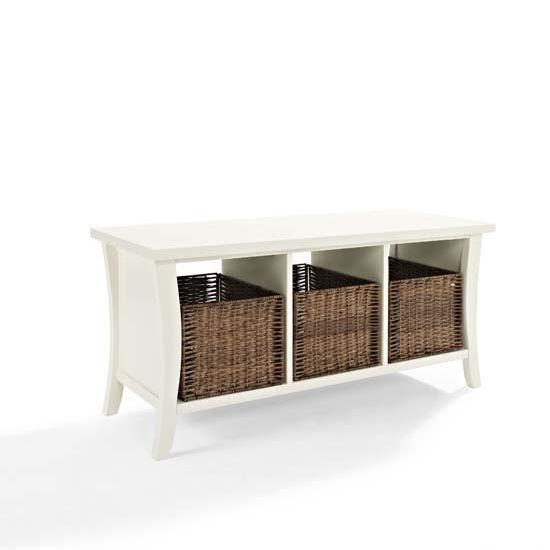 Crosley Furniture Wallis Entryway Storage Bench With 3