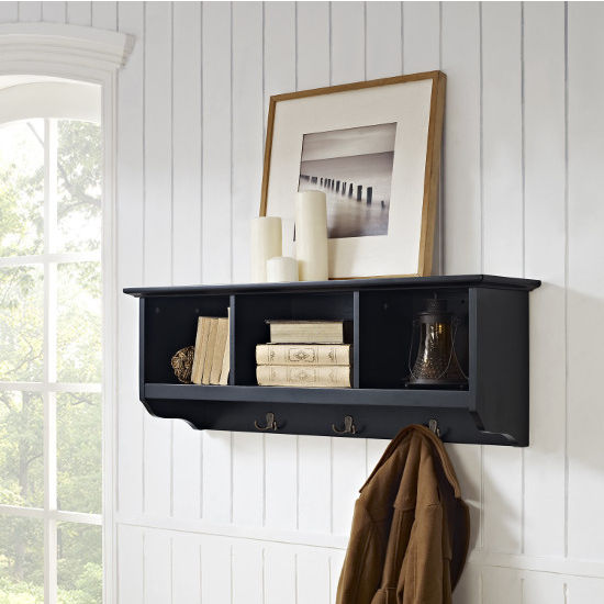Brennan Entryway Storage Shelf in Black