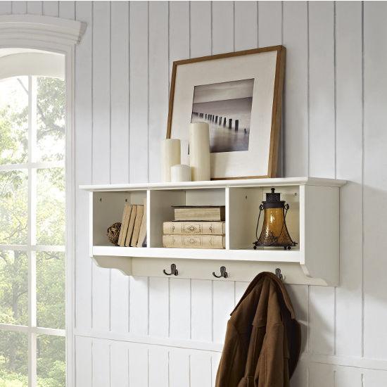 crosley furniture brennan entryway storage shelf with. Black Bedroom Furniture Sets. Home Design Ideas