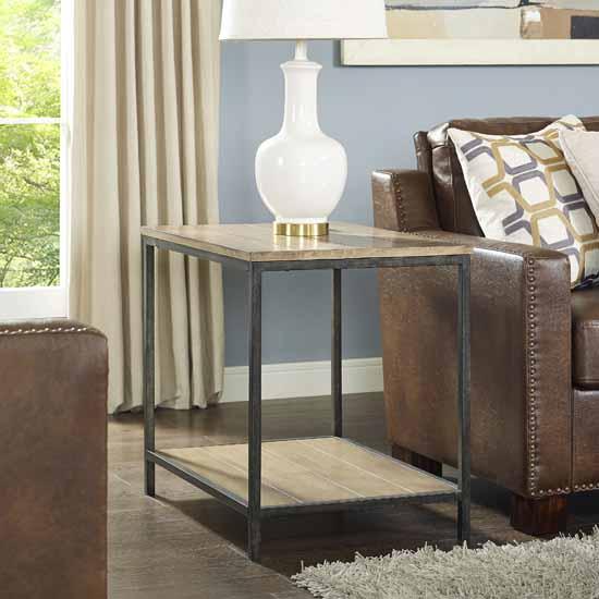 Crosley Furniture Brooke End Table, Washed Oak Finish