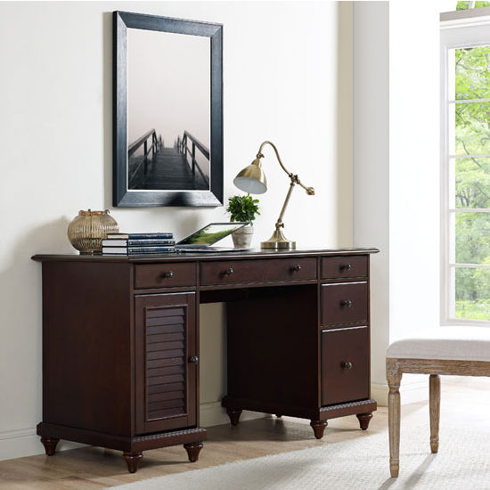 Crosley Furniture Palmetto Computer Desk, Espresso Finish