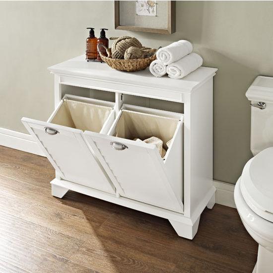 Crosley Furniture Lydia Linen Laundry Hamper In Espresso