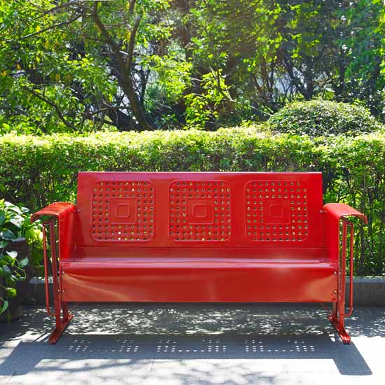 Crosley Furniture Bates Collection Outdoor Sofa Glider In Red 65 3 4