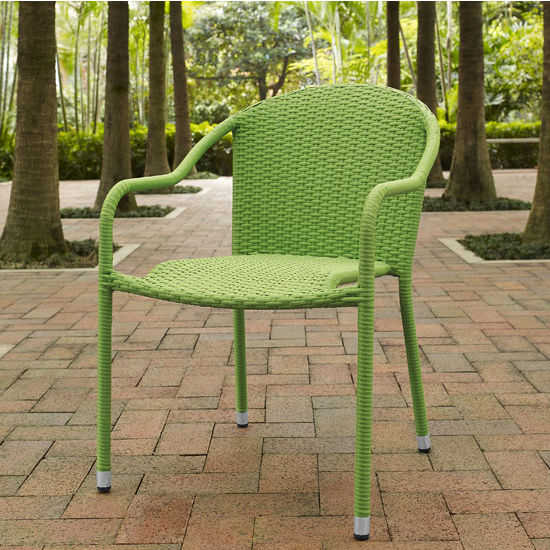 Crosley Furniture Palm Harbor Outdoor UV & Moisture Resistant Wicker Stackable Chairs