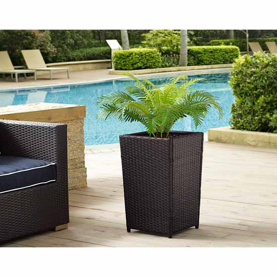 Crosley Furniture Palm Harbor Collection Planter, Small, 14-3/4''W x 14-3/4''D x 23-1/2''H