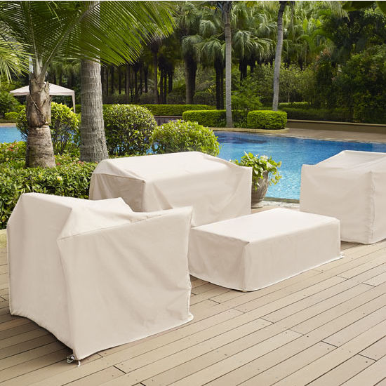 crosley furniture outdoor furniture cover in white finish rh kitchensource com crosley outdoor furniture palm harbor crosley outdoor furniture cushions