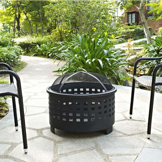 Basket Weave Firepit in Black
