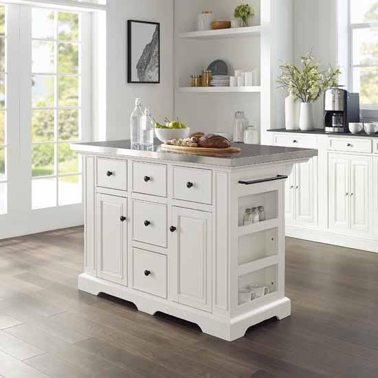 Crosley Furniture Kitchen Island Julia Kitchen Island KitchenSource