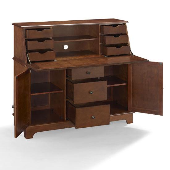 Crosley Furniture Sullivan Secretary Desk In Black White