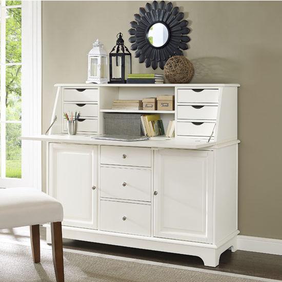 Crosley Furniture Sullivan Secretary Desk In Black Or