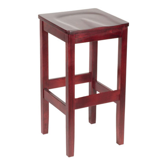 Bulldog Backless Wood Bar Stool With Contour Seat by Cambridge