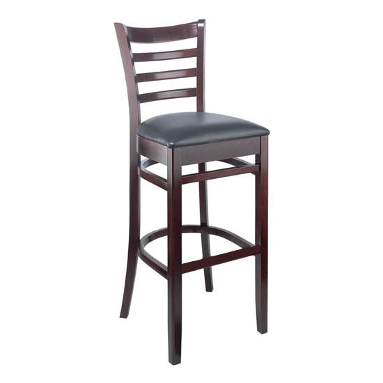 Carole Bar Stool With Black Vinyl Seat by Cambridge