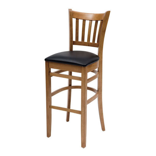 Cambridge - Grill Bar Stool w/ Black Vinyl Seat