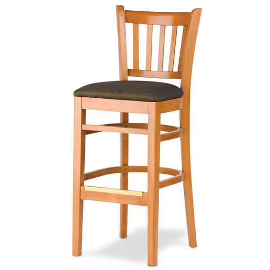 Cambridge - Grill Bar Stool w/ Upholstered Seat
