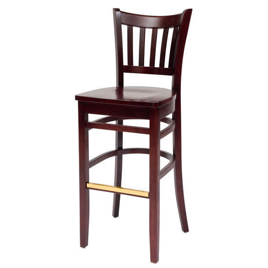 Cambridge - Grill Bar Stool w/ Wood Seat