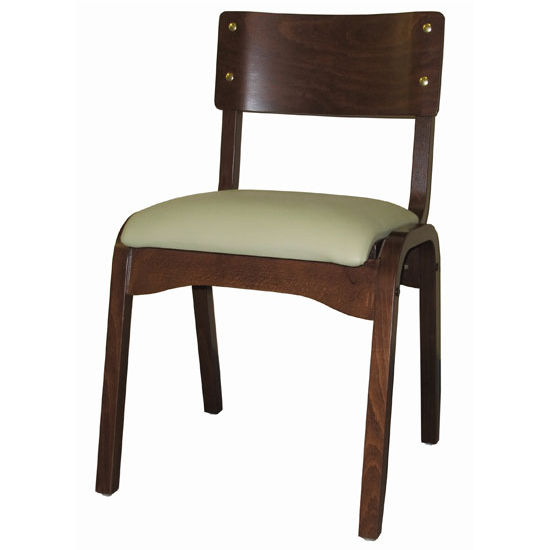 Cambridge Carlo Stacking Chair Custom, Upholstered Seat