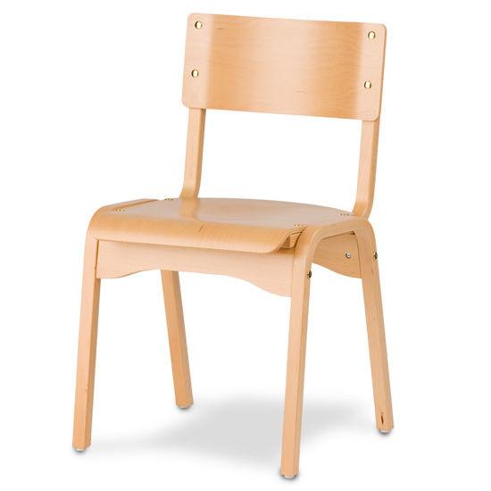 Cambridge - Carlo Stacking Chair w/ Wood Seat
