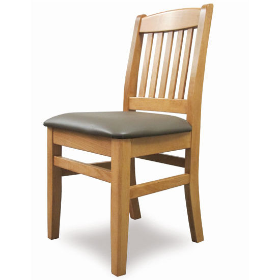 Cambridge - Bulldog Side Chair with Upholstered Seat