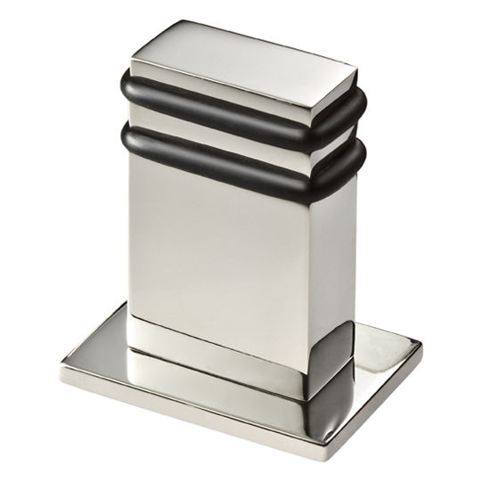 Cool Lines Vision Collection Stainless Steel Rectangle Floor Door Stop in Satin Finish