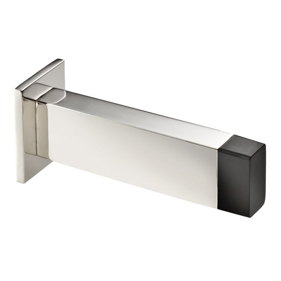 Cool Lines Vision Collection Stainless Steel Rectangle Wall Door Stop In  Satin Finish