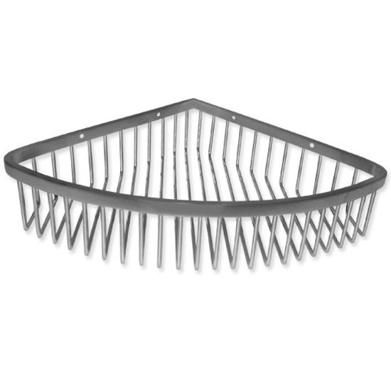 Cool Lines Vison Collection Large Corner Basket, Polished or Satin
