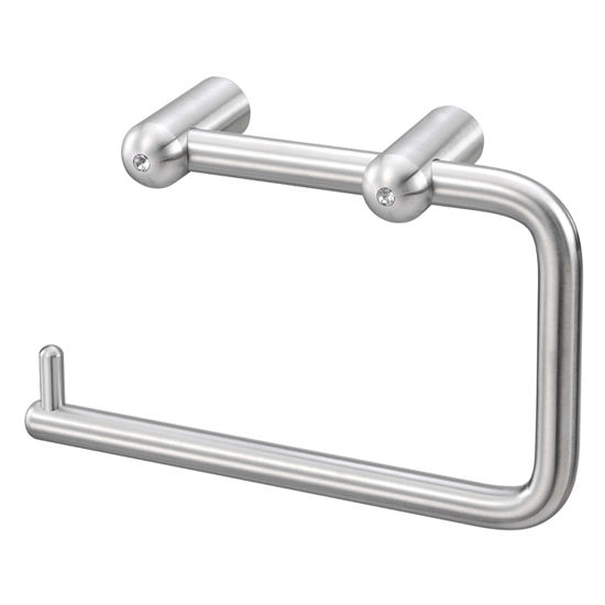Cool Lines Cystal Steel Collection Stainless Steel Bathroom Toilet Paper Holder in Satin Finish